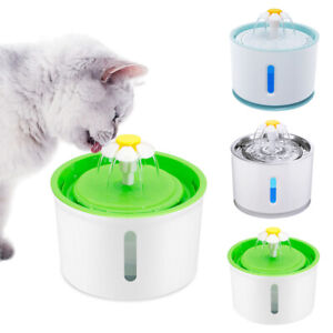 LED Automatic Pet Water Fountain Dog/Cat Drinking Dispenser w/Filter Pump 3 Mode
