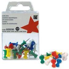 5 Star Push Pins Assortiment Opaque [Pack De 20]