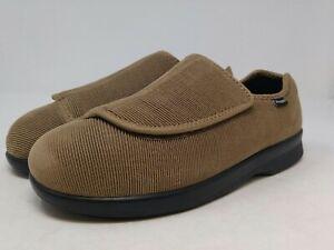 Propet Mens Tan Cush N Foot Slipper 9.5 SE US