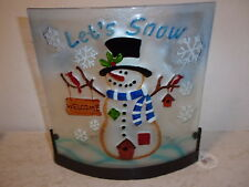 Let's Snow Snowman Tealight Candle Holder