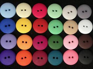 8 BEAUTIFUL MATTE SMARTIE BUTTONS – 30 COLOURS 11, 13, 14, 16, 18, 20, 22, 25mm