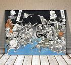 "Traditional Japanese Samurai God Art ~ CANVAS PRINT 18x12"" ~ Kuniyoshi Battle"