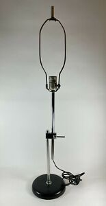VTG Mid Century Modern Chrome & Steel Extendable Table Lamp Koch & Lowy Style