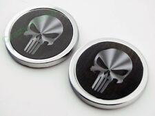 2x Skull Auto Car Body Tail Emblem Decal Tank Fairing Motorcycle Sticker Custom
