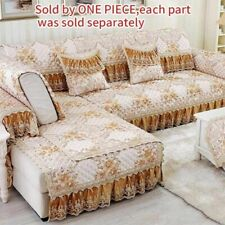 Lace Sofa Slipcover Seater Pad Towel Skirt Sectional Couch Cover Protector 1PC