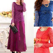Full Length Chiffon Long Sleeve Dresses for Women