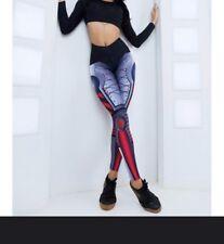 damen leggings Roboter Print, Größe M
