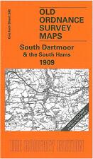 OLD ORDNANCE SURVEY MAP IVYBRIDGE, SOUTH DARTMOOR & THE SOUTH HAMS 1909