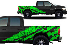 Vinyl Decal Graphic Wrap Kit fits 2002-2008 Dodge Ram 6.5 Bed HEMI SHRED - Green
