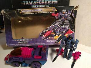 ROADGRABBER Transformers Pretenders Decepticon G1 1988 With Box Complete