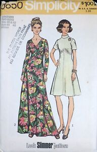 Vtg 1970s Simplicity 5850 Evening Gown Dress SEWING PATTERN UnCUT 44-46 Bust