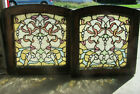 %7E+PAIR+SMALL+ANTIQUE+STAINED+GLASS+WINDOWS+20+JEWELS+EACH+%7E+20+X+20+%7E+SALVAGE
