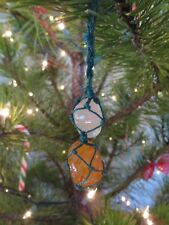 Agates macrame decoration excellent condition various sizes and colours polished
