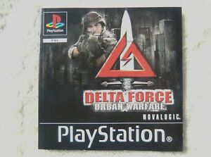 74353 Instruction Booklet - Delta Force Urban Warfare - Sony PS1 Playstation 1 (