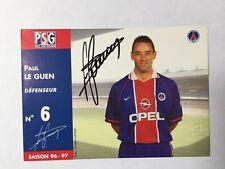 Autogramm PAUL LE GUEN-Paris St.Germain 96/97-PSG-NS Frankreich-FC Nantes/Brest