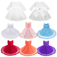 Lace Flower Girls Dress Baby Birthday Wedding Pageant Princess Tutu Formal Gown