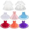 Lace Flower Girl Dress Baby Toddler Birthday Wedding Pageant Princess Tutu Dress