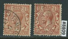 #8809 GREAT BRITAIN Sc#161 Used Lot of 2 King George V 1912-13