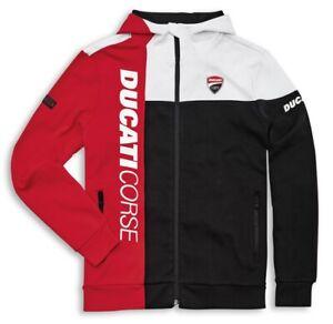 DUCATI CORSE DC Track SweatShirt Pullover Hoodie Jacke weiß rot NEU 2021