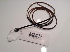 BNWT 100% Auth Maison Martin Margiela, Nero Cintura in Pelle Slim. S