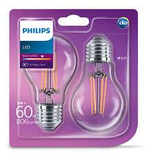 2x Philips LED E27 Birne Lampe Filament 6W=60W Leuchtmittel Licht Warmweiß R2.4