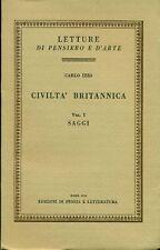IZZO Carlo, Civiltà americana. Vol. I: Saggi. Vol. II: Impressioni e note. 197