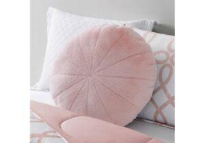 "Mainstays 23"" Lg. Round Soft Squishy fluffy faux fur Pillow Blush/pink"