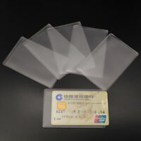 10Pcs Clear PVC ID Credit Card Cover Case Holder Protector Organizer Acc 9.3*6CM