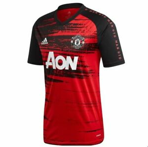 adidas Manchester United  2020 - 2021 Elite Training Soccer Jersey Red Black