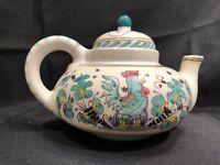 Maioliche IL Bargello Florence tea pot and bowl set