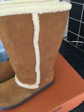 Rocket dog Sofie suede boots size 4 Chestnut Tan brand new in box