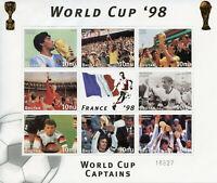 Bhutan 1997 MNH France 1998 World Cup Football Maradonna 8v M/S Sports Stamps