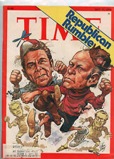 May 17, 1976 Time Magazine Cartoon Drawings of Reagan & Ford Cover
