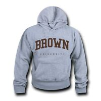 NCAA Brown University Hoodie Sweatshirt Game Day Fleece Pullover Heather Grey