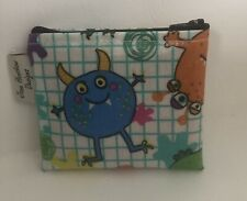 Monsters Coin purse,card wallet,small zipped Pouch,kids wallet,Monsters Oilcloth
