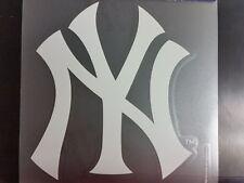 New York Yankees White Window Die Cut Decal Wincraft Sticker 8x8 MLB