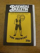 12/09/1981 Burton Albion v Mossley  (folded, team changes). Unless previously li