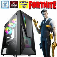 PC FORTNITE GAMING INTEL QUAD CORE i7 RAM 16GB HDD+SSD SCHEDA VIDEO 8GB WIN 10