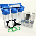 3 Stage Whole House Water Purifier and Softener Filter Kit Salt Free 1/2