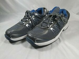 Bio Fit Orthofeet Diabetic 672 Gray Blue Running Shoes Men's Size 10.5 2E Wide