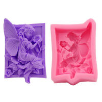 Silicone Flower Fairy Soap Mould Cake Fondant Chocolate Decorat Mold Tools DIY