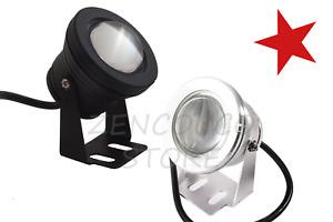 FARO 10W FARETTO LAMPADA COB LED 12V ESTERNO SUBACQUEO IP67 LUCE BIANCA O GIALLA