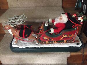 Holiday Creations Animated Musical Santa W Sleigh