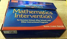 TARGETED MATHEMATICS INTERVENTION TEACHER CREATED MATERIALS LEVEL 3-3RD GRADE