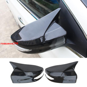 For Nissan Sentra 2016-2019 Carbon Fiber Look style Rear view mirror Cover Trim