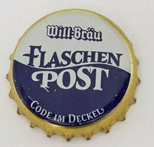 1x Will Bräu Flaschenpost 2021 neu Bier Kronkorken beer crown bottle cap new rar