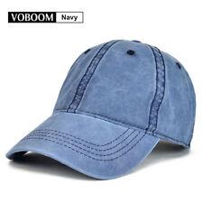 Vintage Navy Trucker Hat Baseball Cap Cotton Mens Distressed Caps Snapback