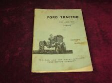Vintage Ford Tractor 701-901 Series Owners Manual 1959