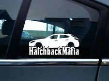 Lowered HATCHBACK MAFIA sticker - for Mazda3 BM (2014-2016) mazda 3 hatchback