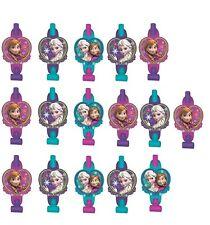 New Disney Frozen Anna & Elsa Blowouts Birthday Party Favor Supplies (16ct)